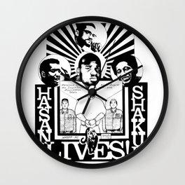 HASAN SHAKUR LIVES Wall Clock