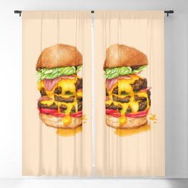 Juicy Cheeseburger Blackout Curtain