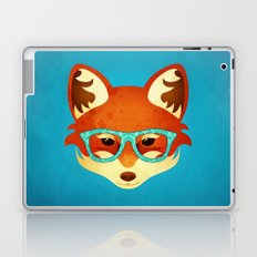 Hipster Fox: Azure Laptop & iPad Skin