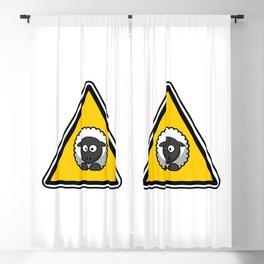 Sheep danger sign Blackout Curtain
