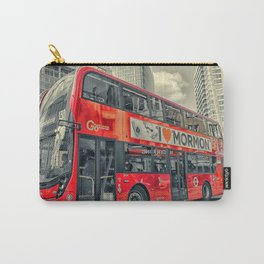 London Mormon Red Bus Carry-All Pouch