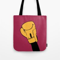 rocky Tote Bags featuring Rocky by FilmsQuiz