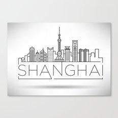 Linear Shanghai Skyline Canvas Print