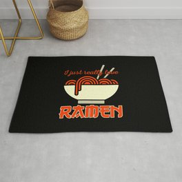 Funny Ramen Quotes Rug