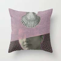audrey Throw Pillows featuring Audrey by Naomi Vona