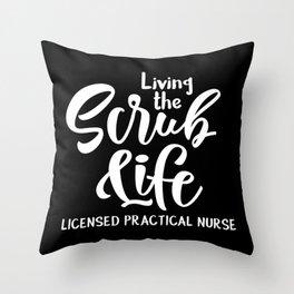 LPN heart, licensed practical nurse Throw Pillow