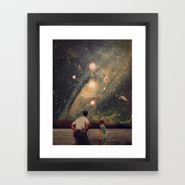 Light Explosions In Our Sky Framed Art Print