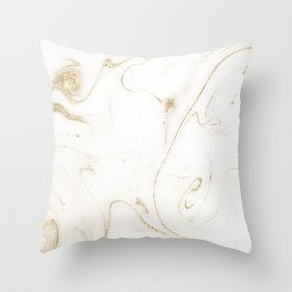 Elegant gold and white marble image Throw Pillow