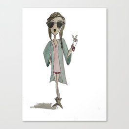 Hipster girl  Canvas Print