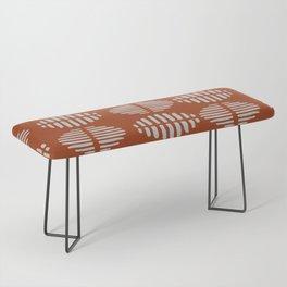 Burnt Sienna Pattern Design Bench