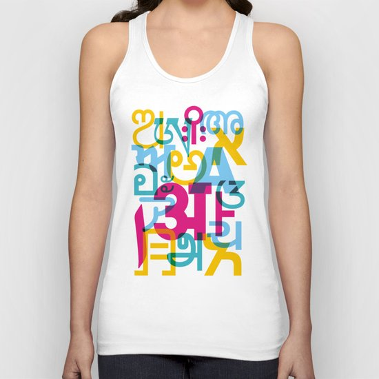 A in Scripts Around the World Unisex Tank Top