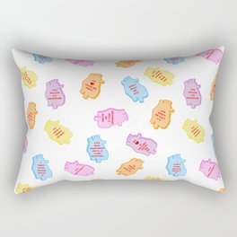 poe conversation hearts Rectangular Pillow