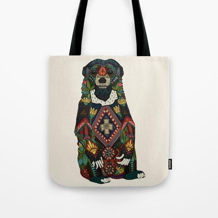sun bear almond Tote Bag