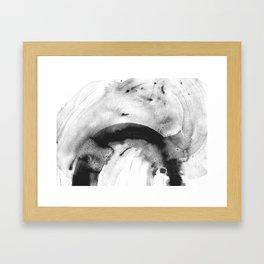 Grey sparks Framed Art Print