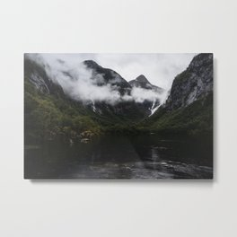 Over Ranges And Rivers It Lies Metal Print