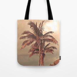 Retro Palm Tree Tote Bag