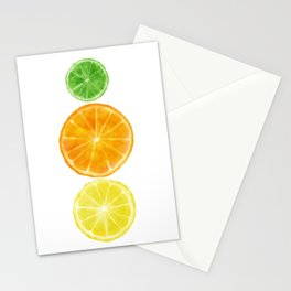 Squeeze the day! Citrus art featuring oranges, lemons, and limes Stationery Cards