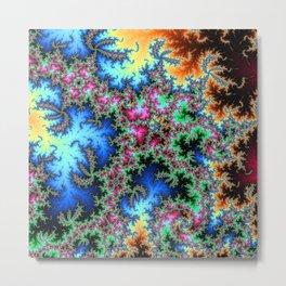Peacock feathers on Acid - fractal art Metal Print