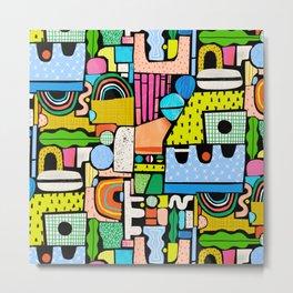 Color Block Collage Metal Print