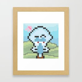 Squidward Pixels Framed Art Print