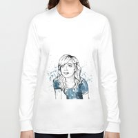 emma stone Long Sleeve T-shirts featuring Emma by naidl