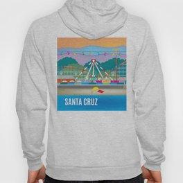 Santa Cruz, California - Skyline Illustration by Loose Petals Hoody