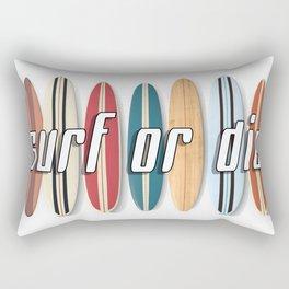 Surf or Die Rectangular Pillow