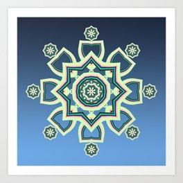 Celtic Snowflake Art Print