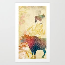 Chinese Lunar New Year and 12 animals ❤ The OX 牛 Art Print