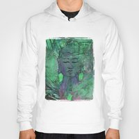 queer Hoodies featuring Queer Buddha ~ Wisdom II by Jamila