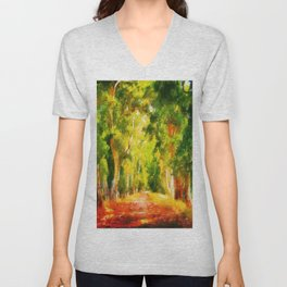 Light At The End of The Tunnel Unisex V-Neck