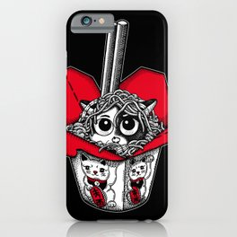 Lucky Cat Noodle Box iPhone Case