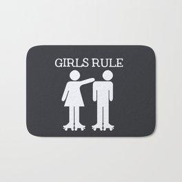Girls Ruler Roller Derby Bath Mat