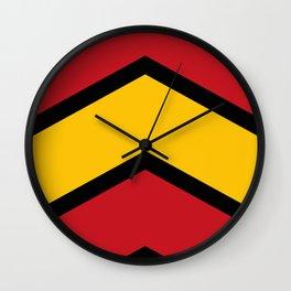 Chevron Spain Flag Colors Wall Clock