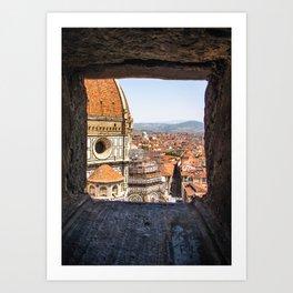 Stone View - Florence Cathedral - Cattedrale di Santa Maria del Fiore Art Print