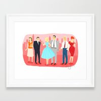 mad men Framed Art Prints featuring Mad Men by Ciara Gay