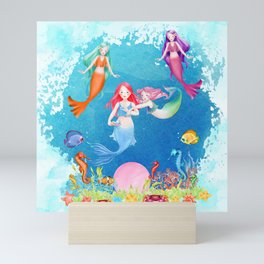 Mermaids and Pearls Mini Art Print