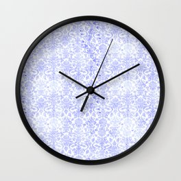 Periwinkle Damask Wall Clock
