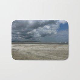 Dramatic Sky Over Golden Isles Beach Bath Mat