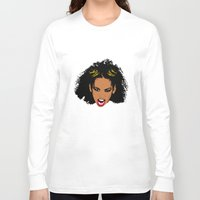 spice girls Long Sleeve T-shirts featuring Spice World - Mel B Scary Spice by Binge Designs Homeware