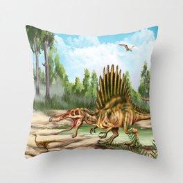 Dinosaur Species Throw Pillow