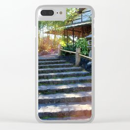 Japanese Tea Garden Stairs Clear iPhone Case