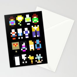Minimalist undertale characters Stationery Cards
