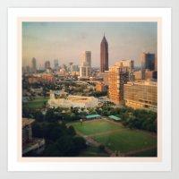 atlanta Art Prints featuring Atlanta by Yellow Barn Studio