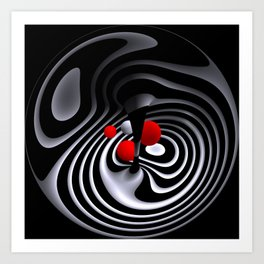 circular images on black -17- Art Print