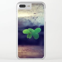 Clovers Clear iPhone Case