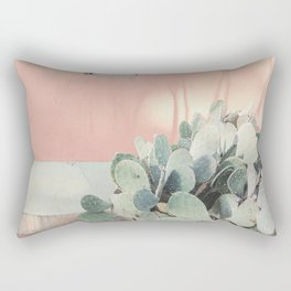 Scenes from Marfa II x Pink Cactus Art Rectangular Pillow