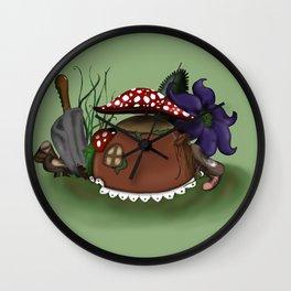 Miniature Teapot Garden Wall Clock
