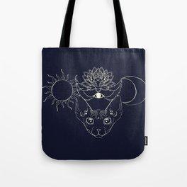 Moonight cat Tote Bag