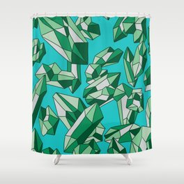 Falling crystals #10 Shower Curtain